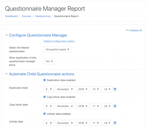 Questionnaire Manager Scheduler